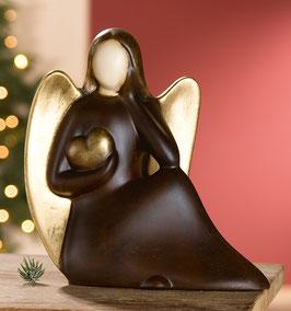 Keramik Engel Valentina sitzend