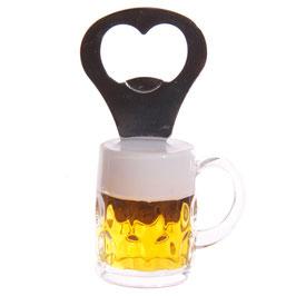 Bierglas Kühlschrank Magnet Flaschenöffner
