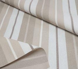 Tischdecke Baumwolle Streifen gestickt beige