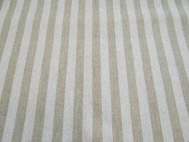 Tischdecke Baumwolle Leinenoptik creme-natur gestreift