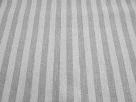 Tischdecke Baumwolle Leinenoptik Dandy grau-weiß gestreift