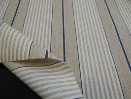 Tischdecke Baumwolle Leinenoptik gestreift blau