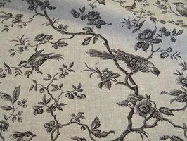 Tischdecke französisches Leinen Birds noire