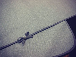 Tischdeckensaum Baumwollband Schleifenabschluß