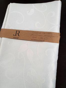 Einzelstück Tischband französischer Baumwoll Jaquard Emma weiß 320 x 100 cm
