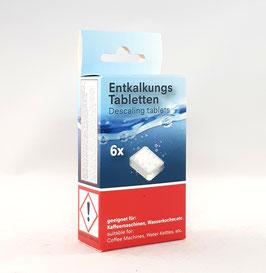 Entkalkungs Tabletten für Kaffeevollautomaten und Siebträgermaschinen 6 Tabletten