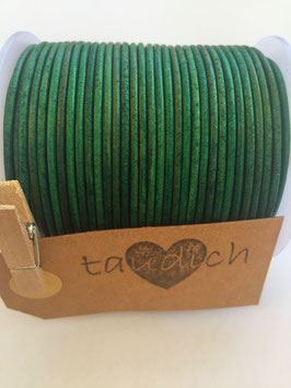 Rundleder 2mm Vintage Green