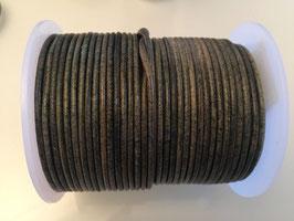 Rundleder 2mm Vintage Fern Green
