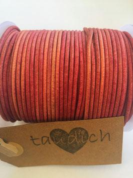 Rundleder 2mm Vintage Pink