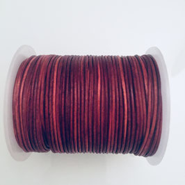 Rundleder 1,5mm Natural Red Brown