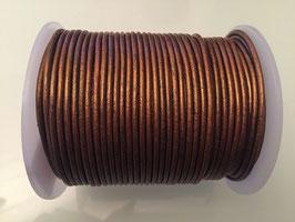 Rundleder 2mm Metallic Bronze