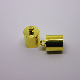 Endkappe mit Öse (Gold) 10mm