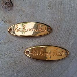 """Verbinder """"Let Love Rule"""" Gold"""