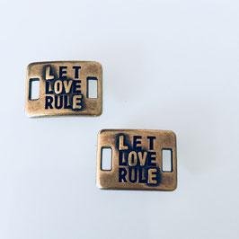 Verbinder Let Love Rule Bronze Neu!