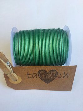 Rundleder 1mm Metallic Apple Green