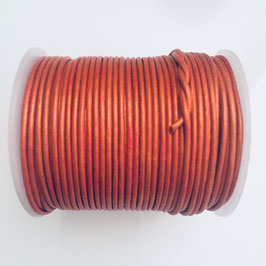 Rundleder 1,5mm Metallic Orange