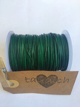 Rundleder 1mm Vintage Green