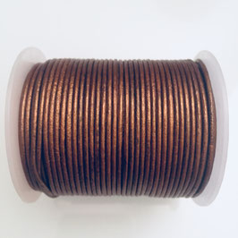 Rundleder 1,5mm Metallic Copper