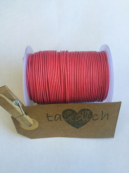 Rundleder 1mm Dark Pink