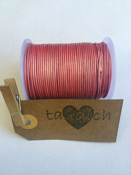 Rundleder 1mm Metallic Dark Pink