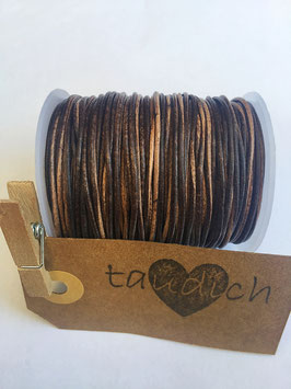 Rundleder 1mm Vintage Brown