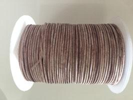 Rundleder 1mm Vintage Taupe