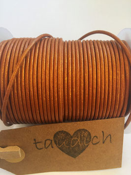 Rundleder 2mm Metallic Cinnamon
