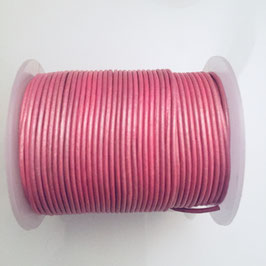 Rundleder 1,5mm Metallic Mystique pink