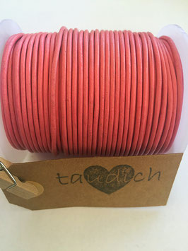 Rundleder 2mm Dark Pink