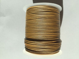 Rundleder 1,5mm Metallic Gold