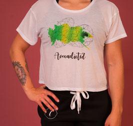 Crop Top avocado white