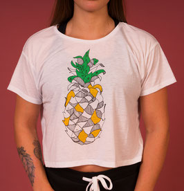 Crop Top ananas white