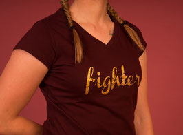 T-Shirt fighter burgundy