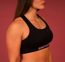 Sports Bra fighter black