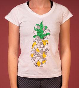 T-Shirt ananas white