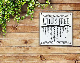 Tuinposter: Wild and free