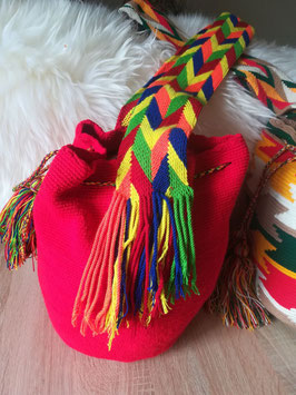 Wayuu mochila Tasche (Rot)