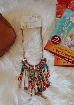 """Halskette aus verschiedenen und vielfältigen Materialien """"Rainbow"""""""