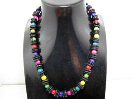 Asai Halskette mit Scheiben und Kokos