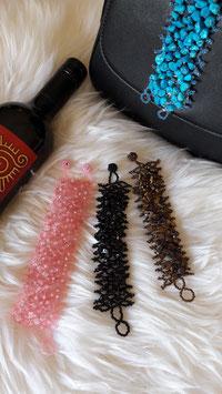 Breites gewebtes Armband mit Mineral Cascajos