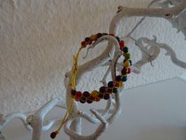 Fadenarmband mit Achira Stoff (3 Reihe)