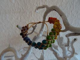 Fadenarmband mit Achira Stoff (4 Reihe)