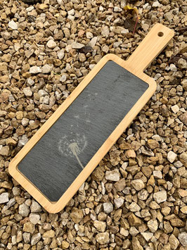 Schiefertablett in Holz Pusteblume