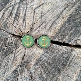 Ohrring Anker grün