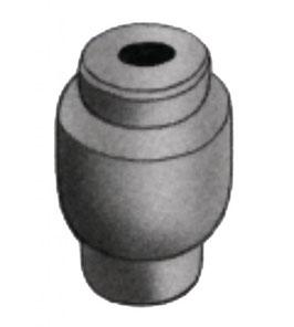Arrêt de gaine avec rebord Ø 5,5 mm aluminium