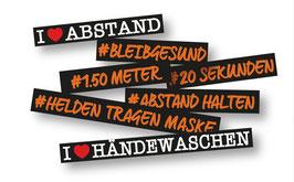 Aufkleber #Hashtag für Wand und Boden