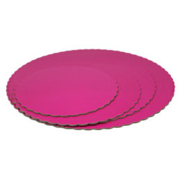 Base Tarta Rizada Fucsia 20 cm x 3 mm