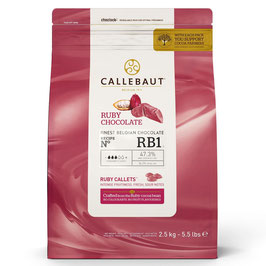 Chocolate Callets Callebaut Ruby 2,5 Kg