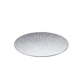 Base Tarta Fina Plateada 25 cm x 3 mm