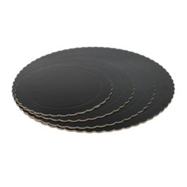 Base Tarta Rizada Negra 25 cm x 3 mm